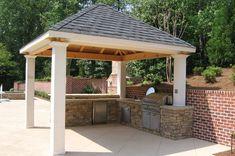 Covered Outdoor Kitchen  Outdoor Kitchen  Outside Landscape Group, LLC  Alpharetta, GA