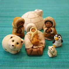 Christmas Clay, Christmas Wishes, Rustic Christmas, Global Holidays, Baby Polar Bears, Small Sculptures, Sacred Art, Holiday Traditions, Christmas Activities