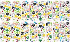 Woof   Jamberry NAS #paws #pets #woof #bones #dog #cat #nailart #easynailart #DIYNailart #nailwraps #Jamberry #nailartstudio