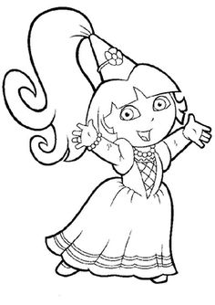 Coloring Pages For Girls Dora Printable And Book To Print Free Find More Online Kids Adults Of