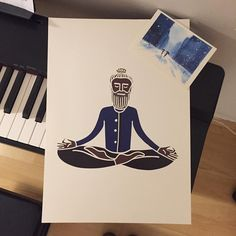 This meditator guy is going to his new home in Pilsen. Link in profile or PM me for yoga prints.