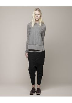 Hexa By Kuho / Neck Warmer Long Sleeve Top. its funny because i usually hate harem pants....