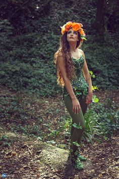 Ivy costume corset / mère nature pour cosplay Déguisements
