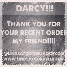 THANK YOU FOR YOUR ORDERS!!!! Can't wait to hear how much you love!!!   www.LindsayCordelia.com