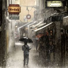 Italy. Heavy Rain in Venezia. // by roby bon, via 500px.