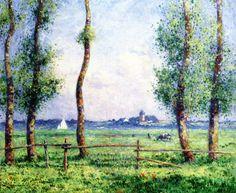 Landscape by the Sea (Ferdinand du Puigaudeau - )
