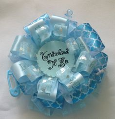 Check out this item in my Etsy shop https://www.etsy.com/listing/244433267/baby-blue-grandma-to-be-corsage-grandma