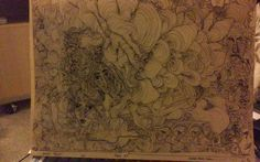 1 Print huge line drawing  called 14 Faces