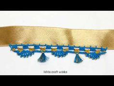Crochet new saree tassel/kuchu - New saree kuchu designs
