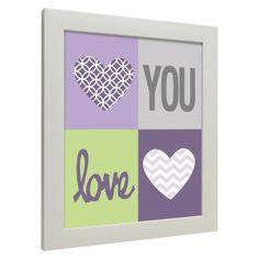 Icons - Love You Hearts - Purple