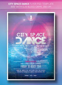 City Space Dance   Flyer Template PSD   Buy and Download: http://graphicriver.net/item/city-space-dance-flyer/8529287?WT.ac=category_thumb&WT.z_author=Boykahn&ref=ksioks