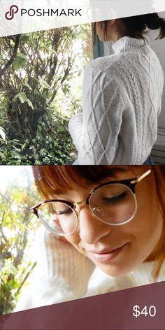 Brandy Melville Mock Neck Sweater Cable knit mock neck from Brandy Melville. Worn a few times! Brandy Melville Sweaters Cowl & Turtlenecks