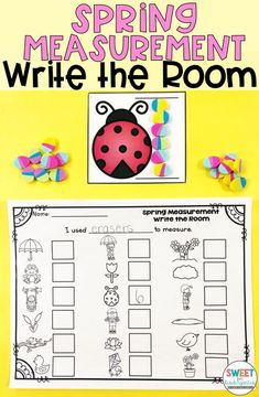 Practice standard and non standard measurement with this fun write the room or center spring themed activity! Works great with Kindergarten or First Grade!