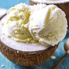 Sahniges Low Carb Kokos-Eis