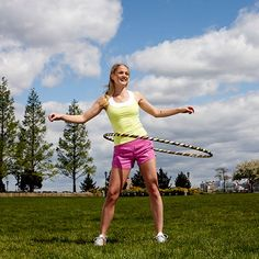 Side stance hula-hooping burns mega calories, sculpts your body, and blasts off belly fat! #cardio | Health.com