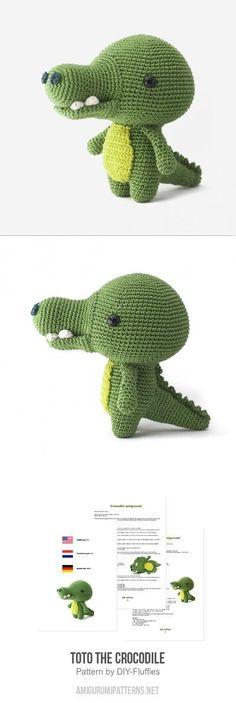 Toto the Crocodile amigurumi pattern