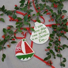 33 Days till Christmas. Little Elf Boats for the Christmas tree.