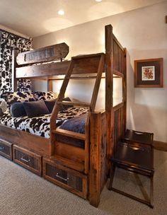 cow rustic bedroom