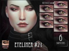 Eyeliner for The Sims 4.  Found in TSR Category 'Sims 4 Female Eyeliner'