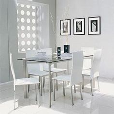 Dining Table, Dining Rooms, Furniture, Home Decor, Google, Large Windows, House Decorations, Interiors, White Dining Rooms