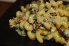 Bacon-Blue Burger Mac and Cheese- This was very tasty but it didn't come out as creamy as it looked in the post. Everyone loved it though and came back for seconds! I didn't have any provolone so I just used cheddar, jack and blue cheeses and I doubled the garlic. Be prepared, this took TWO HOURS to make. Next time I'll buy pre-shredded cheese and pre-cooked bacon. On a scale of 1-10, it was voted a 7-8.