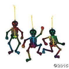 Magic Color Scratch Skeleton Ornaments