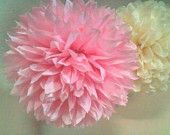 Party decoration. 12 Paper poms. Pink Pony party. PICK  your colors. $37.00, via Etsy.
