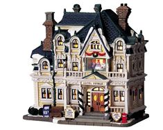 Lemax decorative villages are a holiday tradition made with old-world craftsmanship, combined with new-age technology. Department 56 Christmas Village, Lemax Christmas Village, Christmas Villages, Christmas Home, Villas, Lego Modular, Light Building, Nautical Home, Miniature Houses