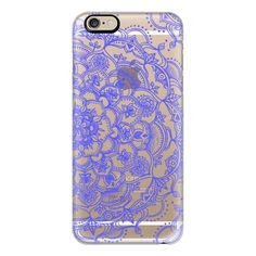 iPhone 6 Plus/6/5/5s/5c Case - Purple Lace on Crystal Transparent (655 MXN) ❤ liked on Polyvore