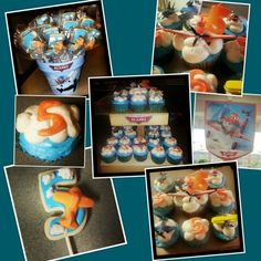 Disney planes birthday party and cupcakes. Royal icing planes sugar cookies with chocolate mold. Disney Planes Birthday, Disney Planes Party, 6th Birthday Parties, 1st Boy Birthday, Birthday Ideas, Airplane Party, Party Entertainment, Party Ideas, Cars