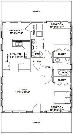 PDF house plans, garage plans, shed plans. 2 Bedroom Floor Plans, Small House Floor Plans, Cabin House Plans, Cottage Floor Plans, Small Log Cabin Plans, Small Cottage Plans, Shed Homes, Cabin Homes, Garage Plans