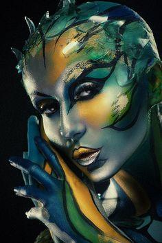 Tatyana Zolotashko Makeup Artist   Artistic #photography #body #painting #paint