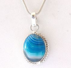 AWESOME BOTSWANA LACE AGATE FASHION JEWELRY 925 SILVER OVERLAY PENDANT FOR HER #925silvercastle #Pendant