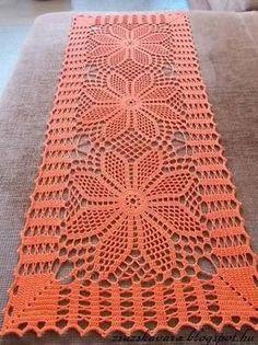Ideas for crochet patrones tapetes Crochet Table Runner Pattern, Crochet Doily Diagram, Crochet Doily Patterns, Crochet Tablecloth, Crochet Squares, Thread Crochet, Filet Crochet, Crochet Motif, Crochet Designs