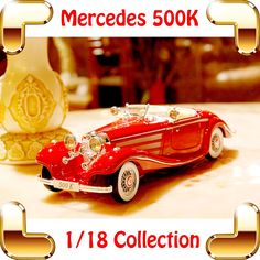 78.21$  Watch now - http://ali3hu.worldwells.pw/go.php?t=32495598210 - New Arrival Gift Mercedes 500K 1/18 History Style Sedan Car Metal Vehicle Model Collection Decoration For Present Window Car Toy