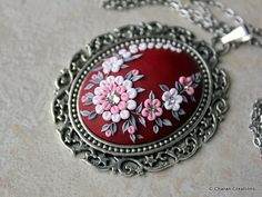 Gorgeous Polymer Clay Applique Statement by charancreations