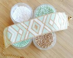 500 Likes, 29 Comments - Mini nel ☆ Jewelry ☆ Toulouse ( on . Loom Bracelet Patterns, Seed Bead Patterns, Bead Loom Bracelets, Jewelry Patterns, Beading Patterns, Seed Bead Jewelry, Bead Jewellery, Beaded Jewelry, Handmade Jewelry