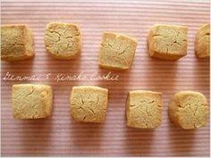 玄米粉ときな粉のキューブクッキー