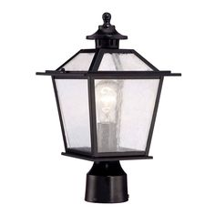 Acclaim Lighting 9707 Salem 1 Light Post Lamp with Clear Seeded Glass Architectural Bronze Outdoor Lighting Post Lights Single Head Post Lights Outdoor Post Lights, Outdoor Lighting, Lamp Post Lights, Lantern Designs, Lantern Post, Outdoor Light Fixtures, Garages, Glass, Seeded