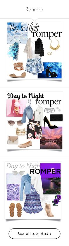 """""""Romper"""" by saarahxoxo ❤ liked on Polyvore featuring Alice + Olivia, Breckelle's, Tory Burch, Chan Luu, Lilly Pulitzer, Kendra Scott, Cape Robbin, DayToNight, romper and Angelo"""