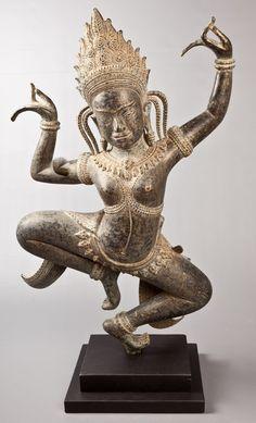 Apsara Statue   Bronze   Sculpture   Affordable Art from Southeast Asia   HD Asian Art