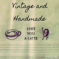 """I just added this to my closet on Poshmark: I Like You A Latte Hand Stamped Napkin. Price: $10 Size: 14.25"""" x 14.5"""""""