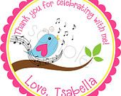 Camping Party Personalized Stickers Birthday Stickers by partyINK