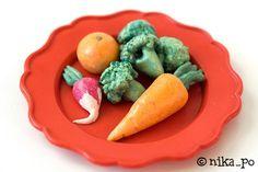 nika_po - Игрушечная еда из солёного теста