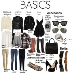 BASICS, created by yamie on Polyvore    When you pin from polyvore leave the mane of the menber that make the collage. If you like that they leave the link of your blog for example, they would like to be appreciate to. Only a idea!?
