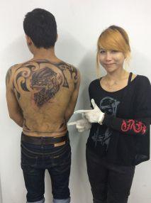 สักลาย artist girl tattoo
