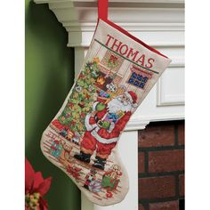 Bucilla Cross Stitch Stocking Kit Classic Santa