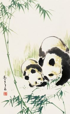 Cyber Jammies Diva Nails diva nails oakland ca Panda Painting, Japan Painting, Ink Painting, Japanese Watercolor, Watercolor And Ink, Chinese Drawings, Japanese Artwork, Dibujos Cute, China Art