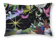"Angel Skies Throw Pillow 20"" x 14"""