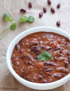 Rajma Masala Curry - Dhaba Style Popular Punjabi Dish - Red Kidney Beans Curry - Step by Step Photo Recipe Top Recipes, Bean Recipes, Curry Recipes, Indian Food Recipes, Cooking Recipes, Lentil Recipes, Kidney Bean Curry, Beans Curry, Rajma Masala Recipe